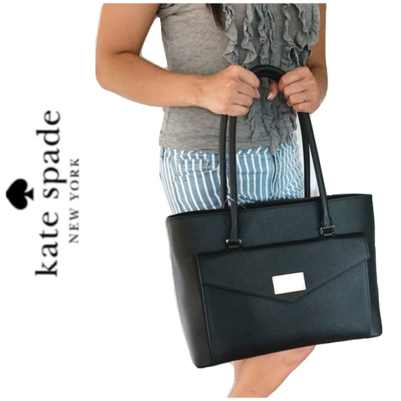 kate spade Handbags - NWT Kate Spade genuine leather tote black